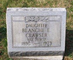 Blanche E <i>Horst</i> Clawser