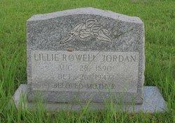 Lillie <i>Rowell</i> Jordan