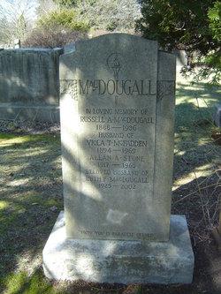 Ruth F <i>MacDougall</i> Stone