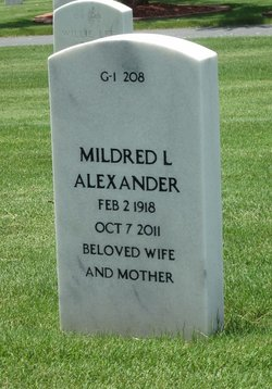 Mildred Lula Mae Alexander