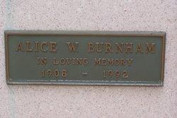 Alice W. Burnham