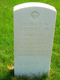 George W Haynes, Jr