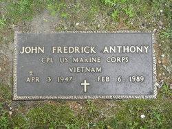 Corp John Frederick Anthony