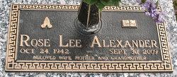 Rose <i>Lee</i> Alexander