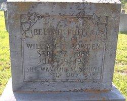 Beulah <i>Fuller</i> Bowden