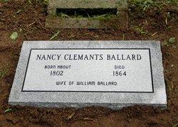 Nancy <i>Clemants</i> Ballard