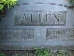 Mattie E <i>Newbanks</i> Allen