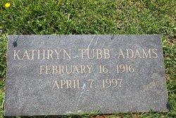 Kathryn <i>Tubb</i> Adams