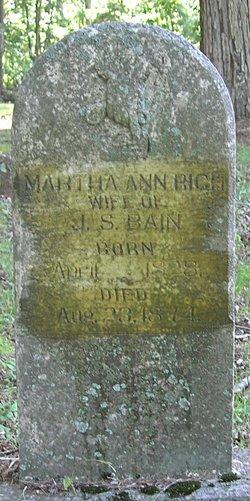 Martha Ann <i>Rich</i> Bain