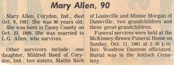 Mary <i>Cundiff</i> Allen