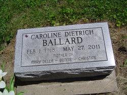 Caroline Esther <i>Dietrich</i> Ballard