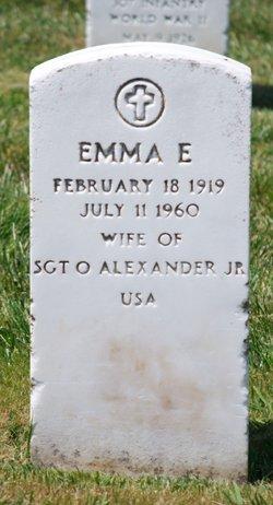 Emma E Alexander