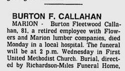 Burton Fleetwood Callahan, Sr