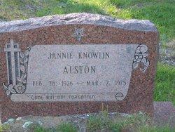 Janie <i>Knowlin</i> Alston