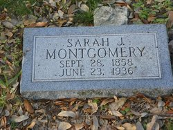 Sarah Jane <i>Hicks</i> Montgomery