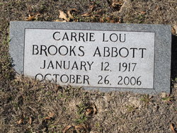 Carrie Lou <i>Brooks</i> Abbott
