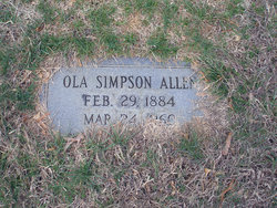 Ola <i>Simpson</i> Allen