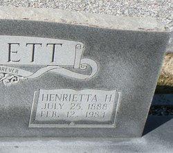 Henrietta Ettie <i>Herrin</i> Bennett