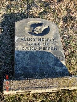 Mary <i>Henry</i> Peters