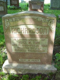 Alice M. <i>Tims</i> Richardson