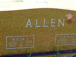 Maude V. <i>Edwards</i> Allen