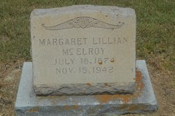 Margaret Lillian <i>Williams</i> McElroy