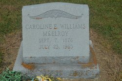 Caroline Elizabeth <i>Williams</i> McElroy