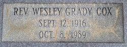Rev Wesley Grady Cox