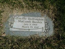 Lucille Buffington <i>MaComb</i> Baxter