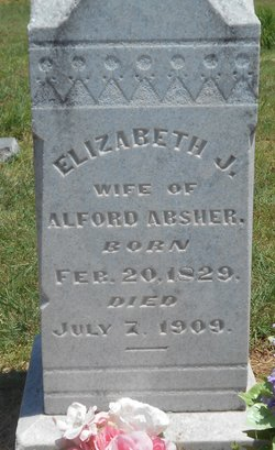 Elizabeth Jane <i>Whitley</i> Absher
