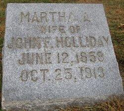 Martha A <i>Morgan</i> Holliday