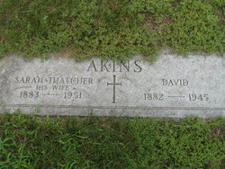 Sarah Mary <i>Thatcher</i> Akins