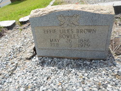 Effie Isabell <i>Liles</i> Bowles