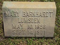 Mary <i>Barnhardt</i> Lumsden