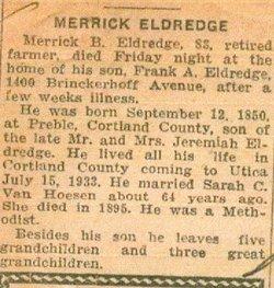 Merrick Belden Eldredge