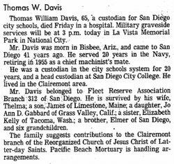Thomas William Davis, Jr