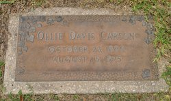 Octavia Vernon Ollie <i>Cochran</i> Davis Carson