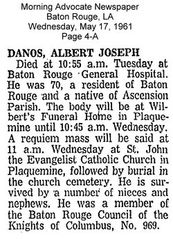 Albert Joseph Danos