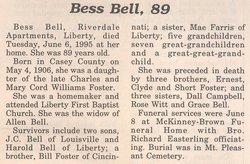 Bess <i>Foster</i> Bell