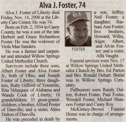 Alva J Foster