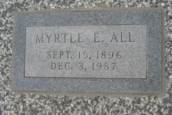 Myrtle E <i>Goode</i> All