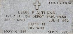 Sgt Leon Peter Altland