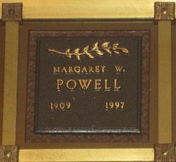 Margaret W Powell