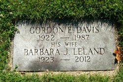 Barbara J <i>Leland</i> Davis