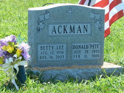 Betty L. <i>Fox</i> Ackman