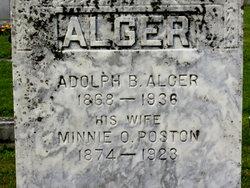 Minnie O <i>Poston</i> Alger