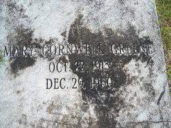 Mary <i>Cornwell</i> Greene