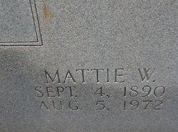 Mattie W Lee