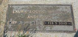 Laura Louise <i>Hanson</i> Anderson