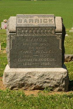 Jennie <i>Mitchell</i> Barrick